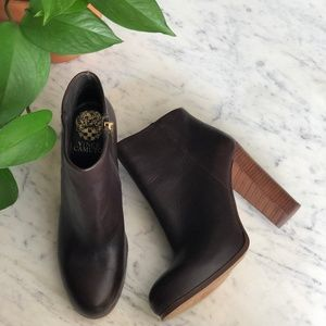 Vince Camuto Brown Leather Grenadine Booties 8